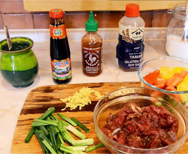 Recipe Ingredients Beef with Vegetables in Oyster Sauce Yosukata