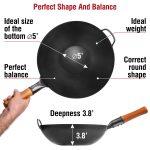 "Small Yosukata 13.5"" Black Carbon Steel Wok Pan"