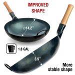 "Small Yosukata 14"" Blue Carbon Steel Wok Pre-Seasoned"