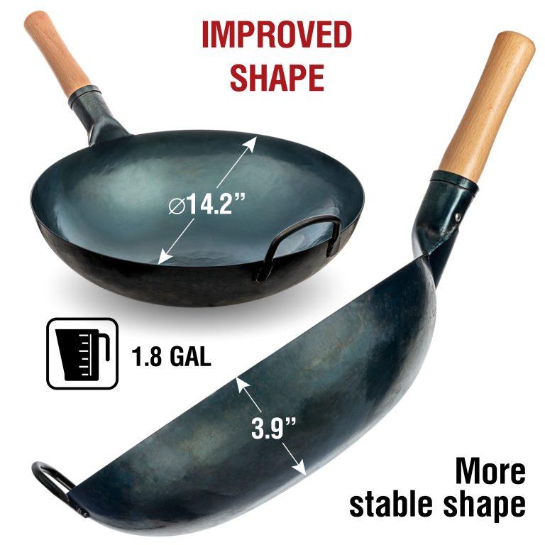 "Yosukata 14"" Blue Carbon Steel Wok Pre-Seasoned"