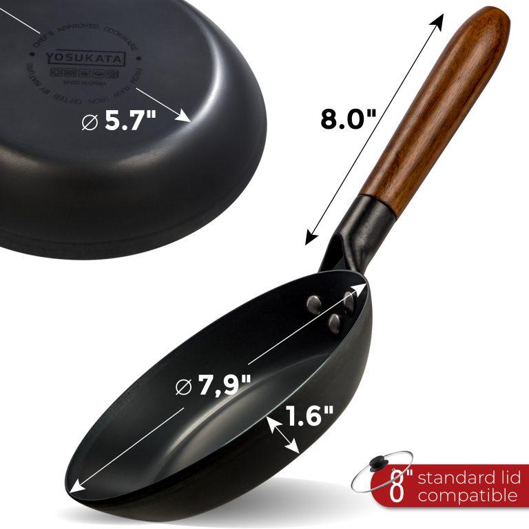 "Yosukata 7.9"" Black Carbon Steel Skillet"