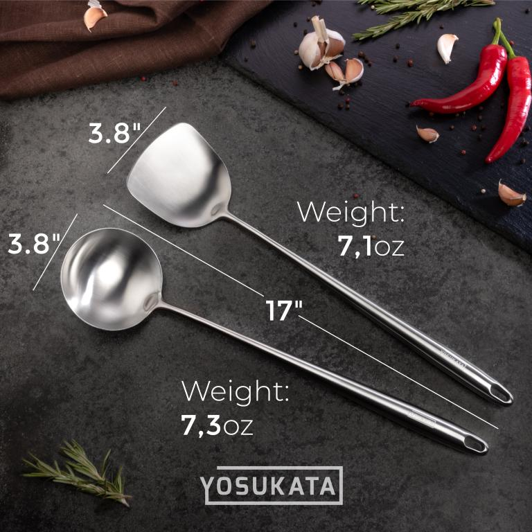 Yosukata 17'' Wok Spatula and Ladle Set