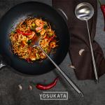 Small Yosukata 17'' Wok Spatula and Ladle Set