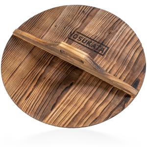 Yosukata 14″ Wooden Lid for Carbon Steel & Cast Iron Woks